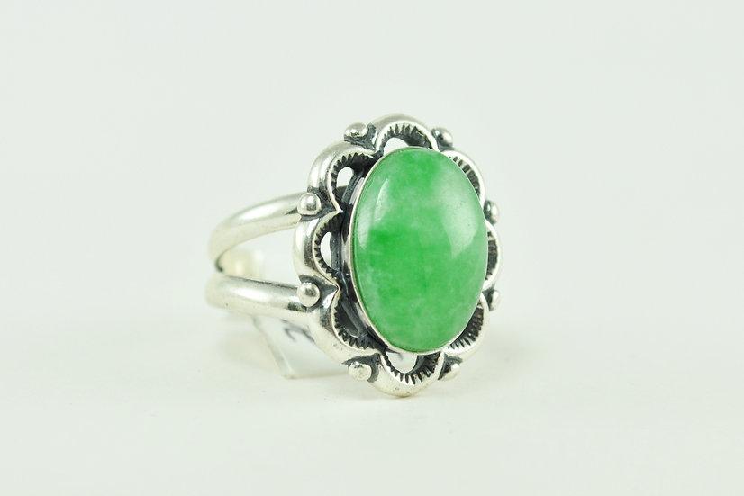 Sterling Jadite Ring
