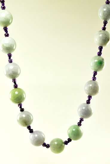 Jadite & Amethyst Necklace