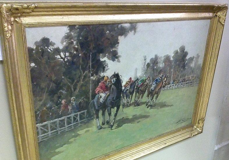 """Horse Race"" Artist Signed"