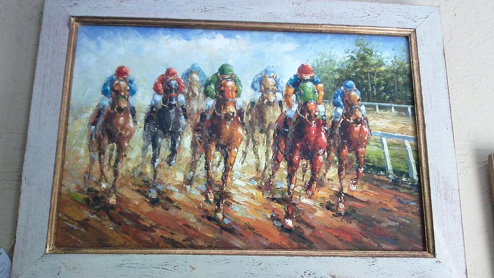 """Horse Race"" Artist Unknown"