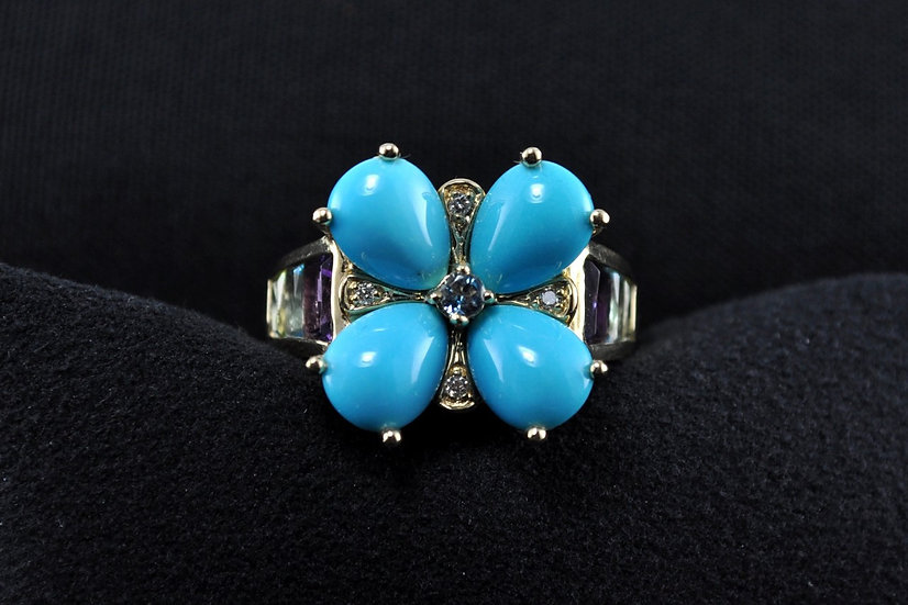 Turquoise Flower Ring