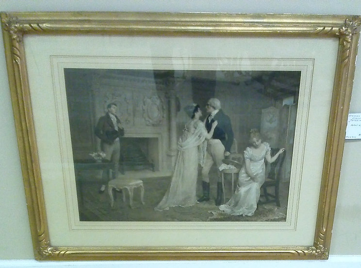 "Engraving ""Beseechment"". Artist Signed"