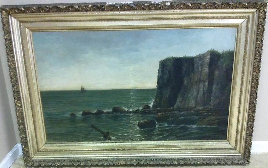 """Granite Cliff Seascape"" by: Walter Richardson"