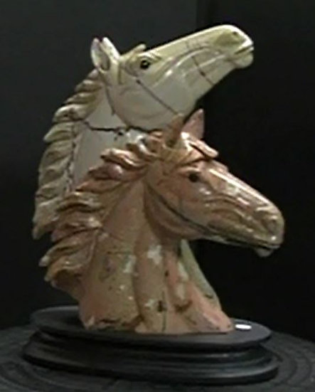 Carved Jasper Horse Head