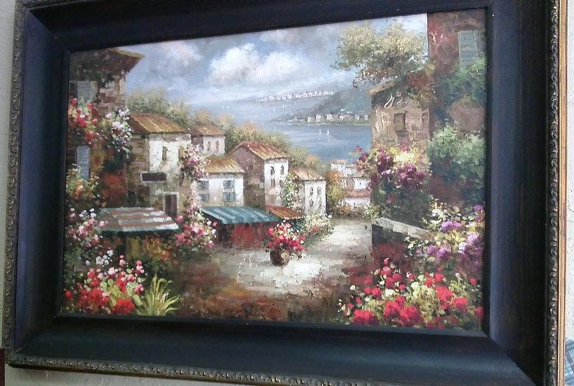 """""""Mediterranean Landscape"""" Artist Unknown"""