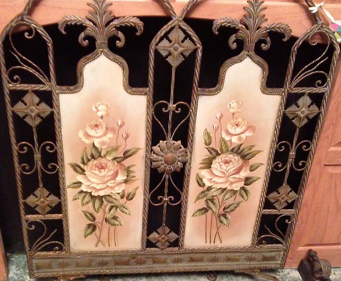 Hand Painted Fire Screen