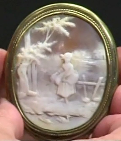 Hand Carved Courtship Cameo