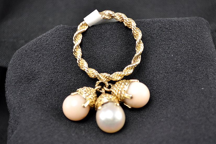 Angelskin Coral Akoya Pearl Ring