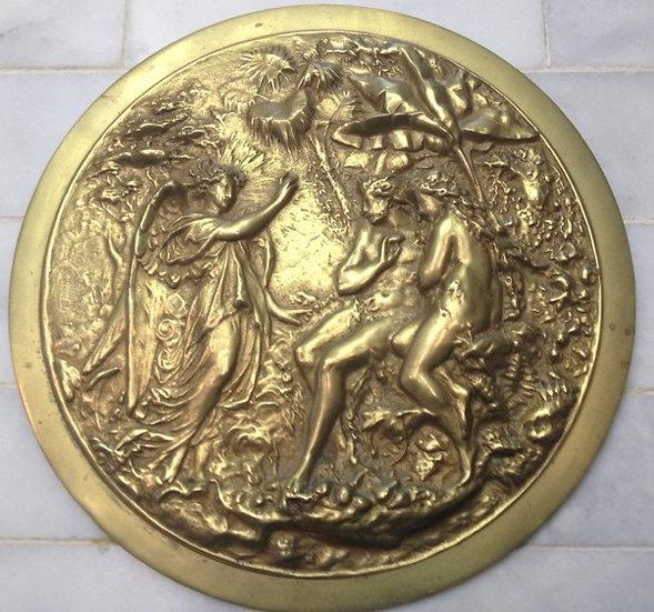 "Bronze ""Adam & Eve"" Disc Medallion"