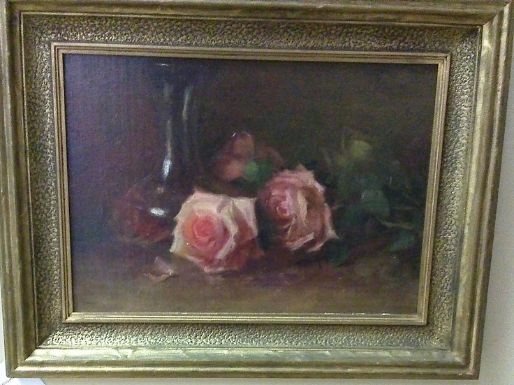 """Pink Roses"" by: P. Rathery. Victorian"