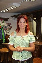 Andréa Berg dans sa boutique en mai 2014