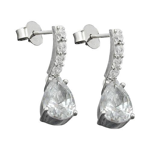 Ohrringe mit Pendel und Zirkonias