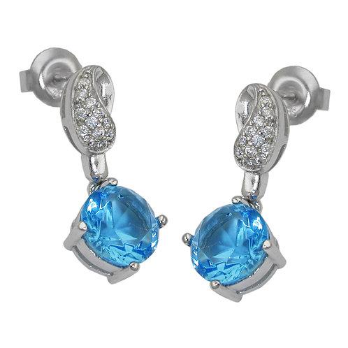 Ohrringe mit großen blauen Zirkonias