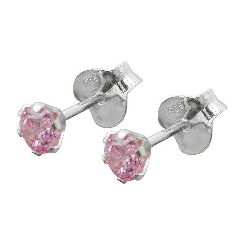 Ohrringe mit pinken Zirkonias
