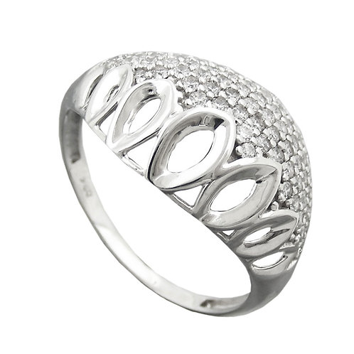 Ring mit ausgewölbtem Muster