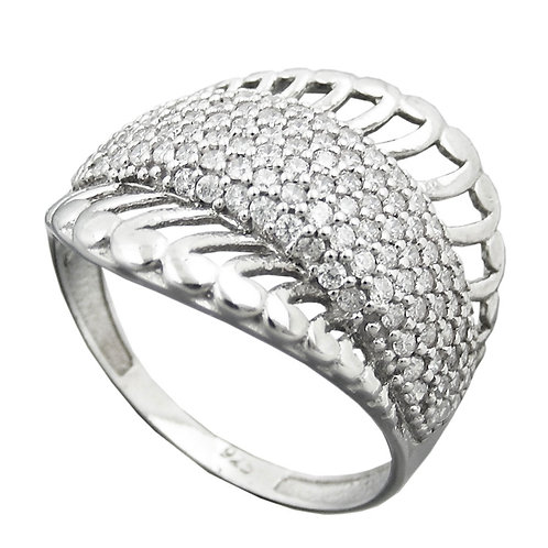 Ring mit Strahlenmuster