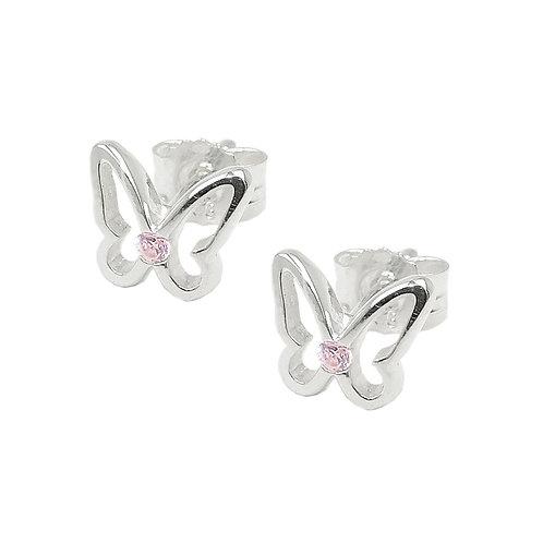 Ohrringe Schmetterling mit Zirkonia