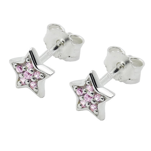 Ohrringe Sternchen mit lila Zirkonias