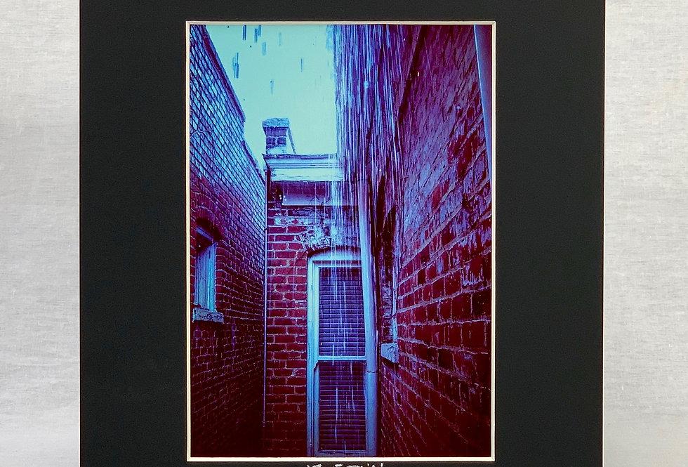 'Blue Rain' 8x10 Matted Print