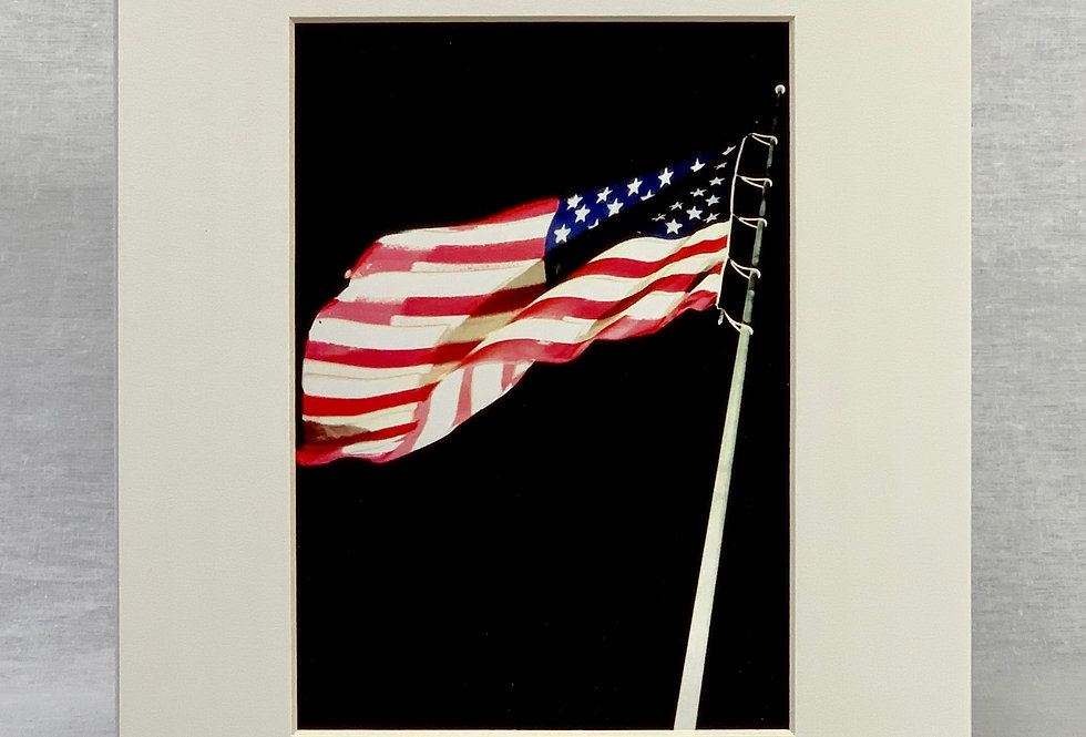 'The Stars & Stripes' 8x10 Matted Print