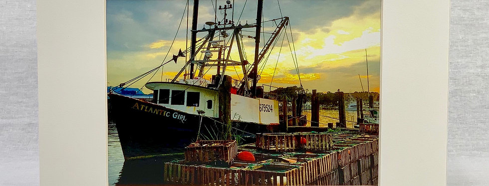 'The Atlantic Girl' 8x10 Matted Print