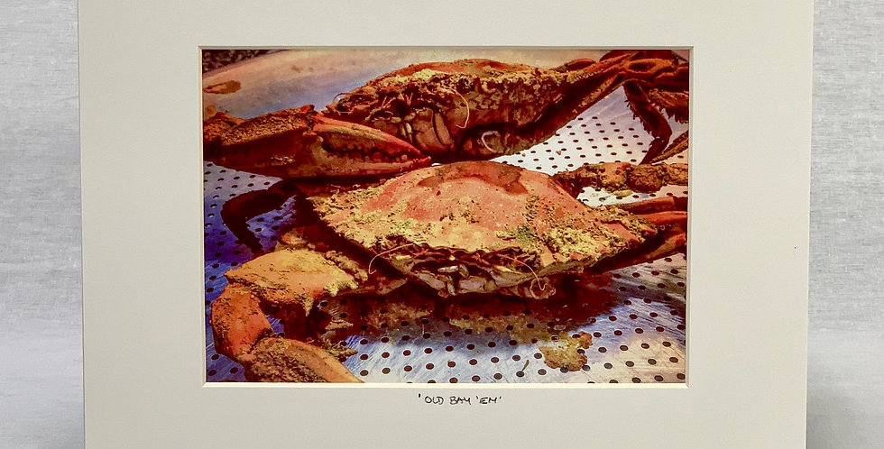 'Old Bay 'Em' 8x10 Matted Print