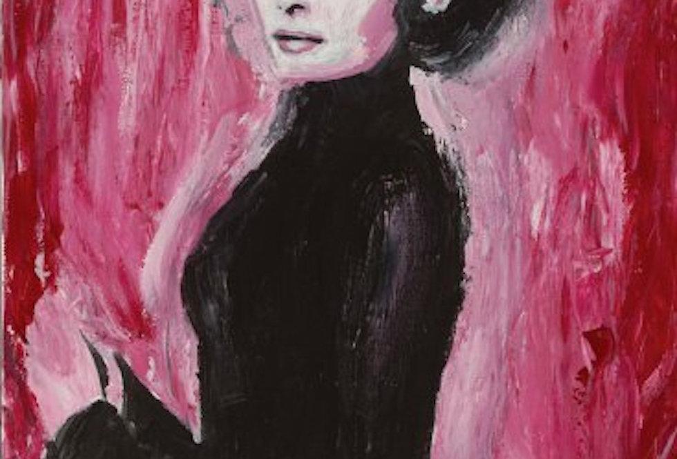 'Audrey' : Post Card
