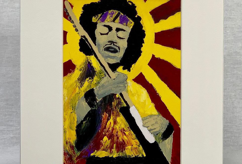 'Bold As Hendrix' 8x10 Matted Print