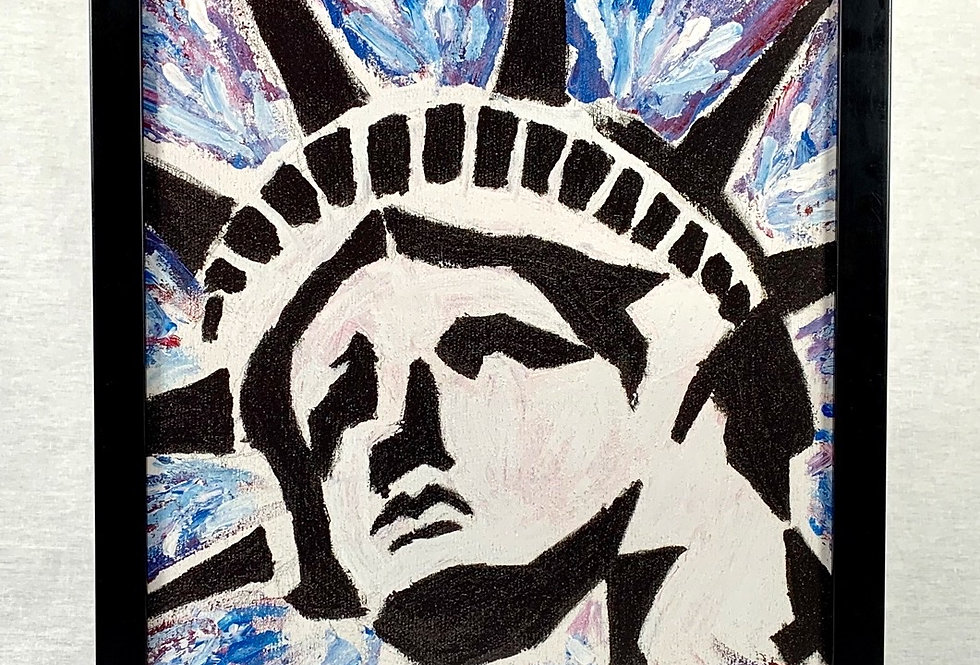 'Lady Liberty' : Framed 11x17 Print