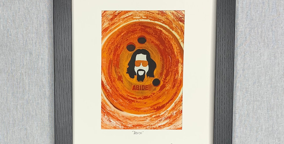 'Abide' : 5x7 Print Matted in an 8x10 Frame