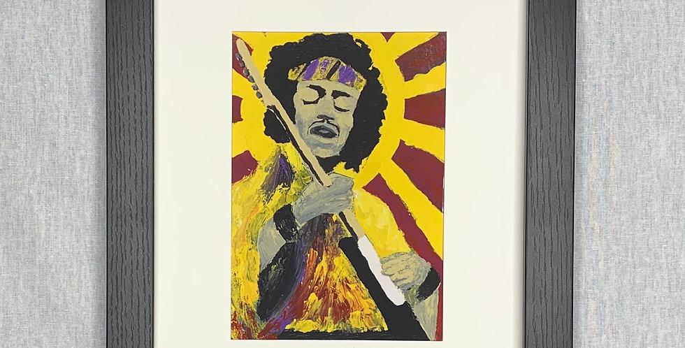 'Bold As Hendrix' : 8x10 Framed Print