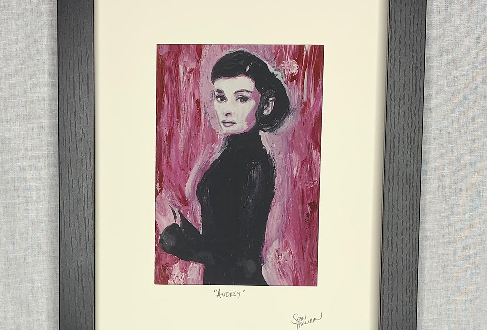 'Audrey' : 5x7 Print Matted in an 8x10 Frame