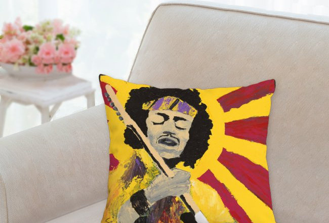 'Bold As Hendrix' Pillow 14x14