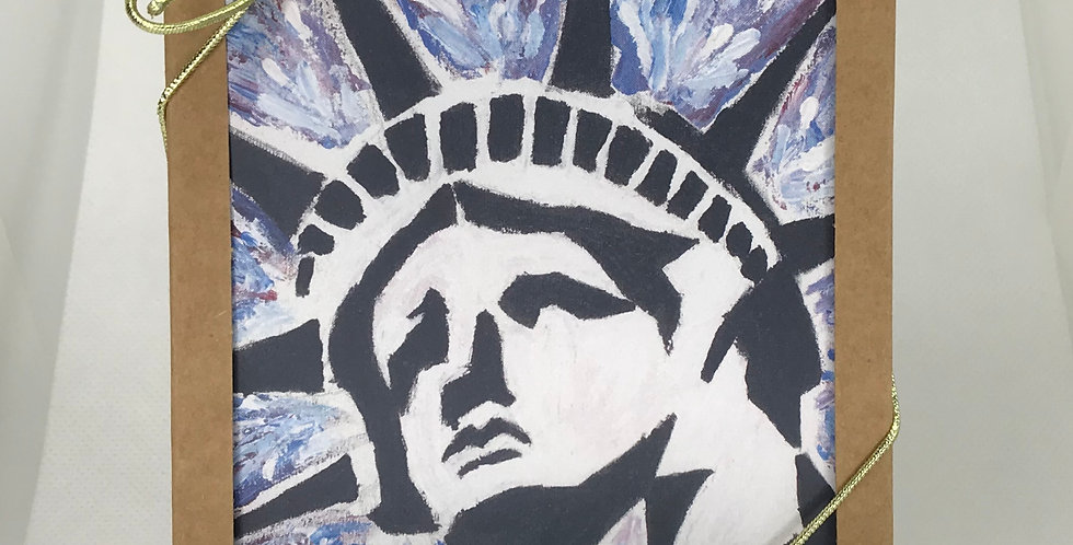 'Lady Liberty' :  Set of 5 Note Cards