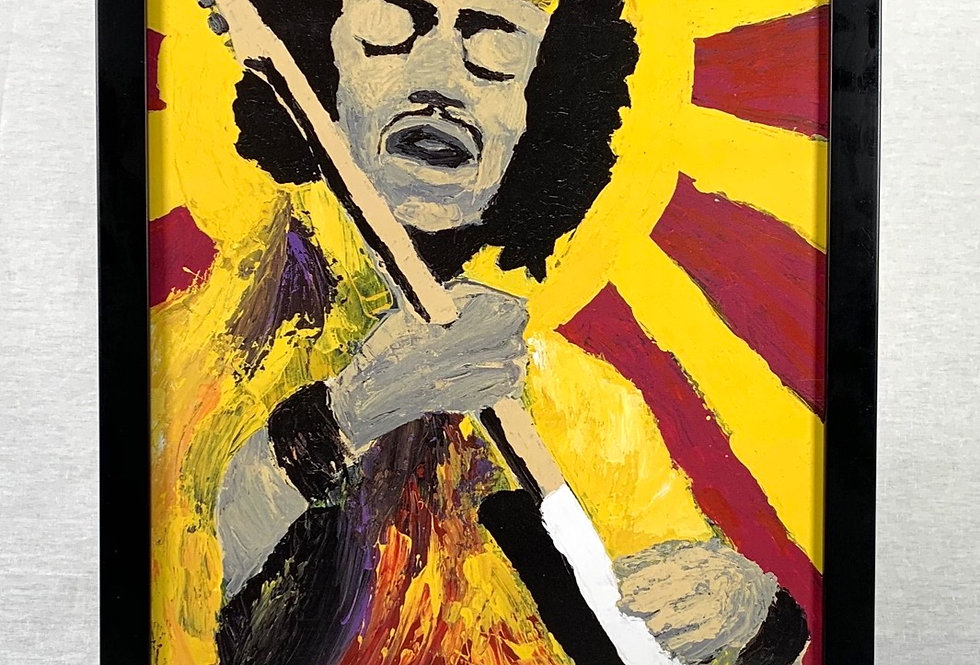 'Bold As Hendrix' : Framed 11x17 Print