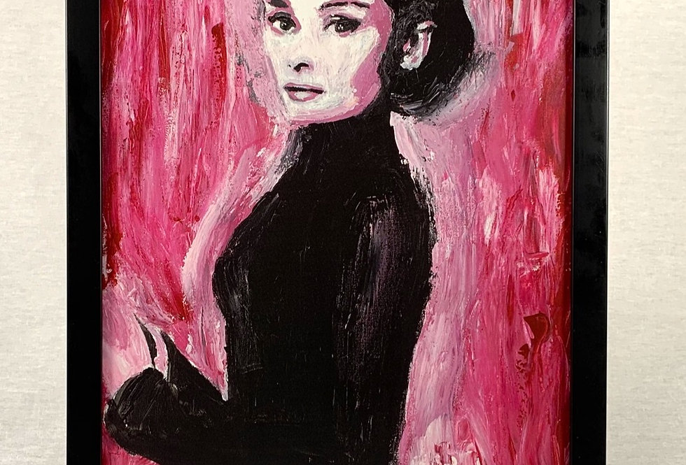 'Audrey' : Framed 11x17 Print