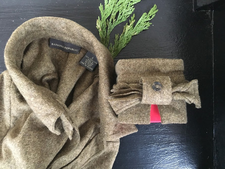 Gift Wrapping: New Life for the Old Sweater and Scrap Fabric