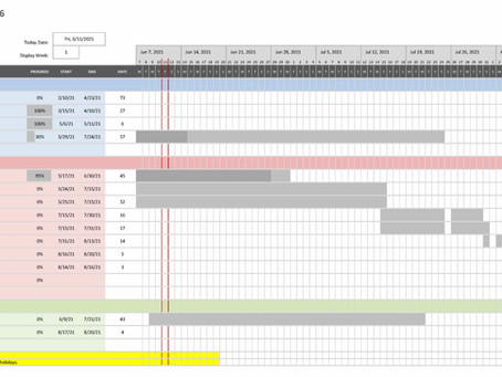 Project Schedule Update 6/15/21