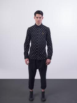 31.3064.X Monogram.Button Down Shirt.Black.01.jpg
