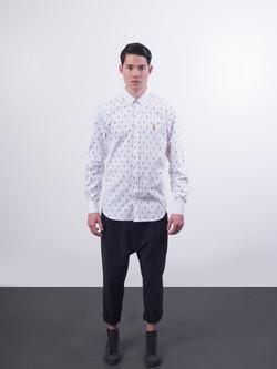 31.3064.X Monogram.Button Down Shirt.White.01.jpg