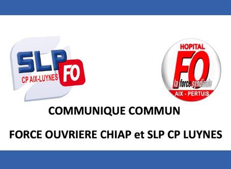 Prison d'Aix-Luynes : Communiqué commun Force Ouvrière CHIAP et SLP CP Luynes