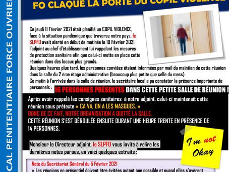 Prison de Maubeuge : Mesures sanitaires COVID non respectées, FO claque la porte du COPIL Violence
