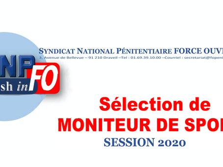 Sélection de Moniteur de Sport : Session 2020