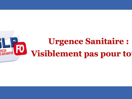 Prison de Condé-sur-Sarthe : Urgence sanitaire, visiblement pas pour tous !