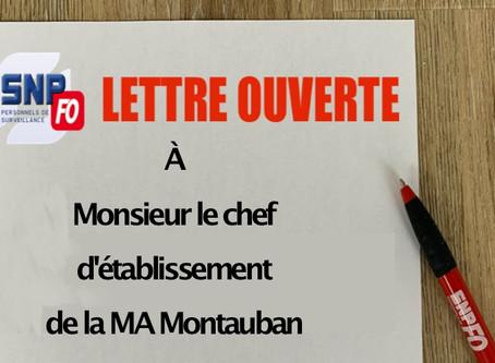 Prison de Montauban : Lettre ouverte à l'attention de Monsieur le chef d'établissement