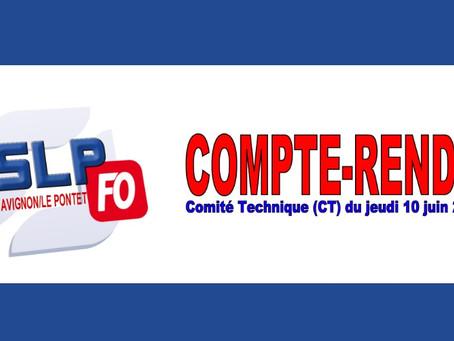 Prison d'Avignon Le Pontet : Compte-rendu Comité Technique (CT) du jeudi 10 juin 2021