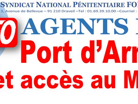 Agents ESP : Port d'armes et accès au mess