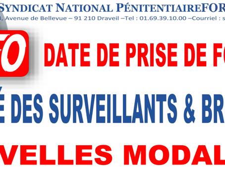 Date de prise de fonction : Mobilité des Surveillants et Brigadiers. Nouvelles modalités