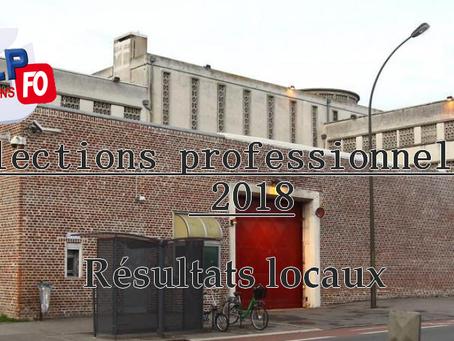 Prison d'Amiens : Élections professionnelles 2018, résultats locaux