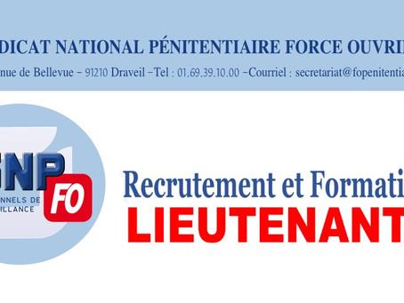Recrutement et formation Lieutenants